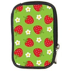 Strawberries Flower Floral Red Green Compact Camera Cases by Jojostore