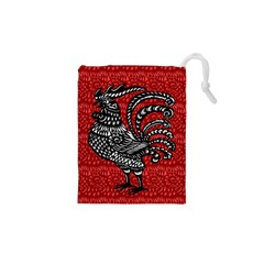 Year of the Rooster Drawstring Pouches (XS)  by Valentinaart