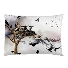Birds Crows Black Ravens Wing Pillow Case (two Sides)