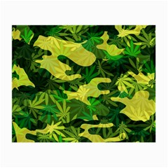 Marijuana Camouflage Cannabis Drug Small Glasses Cloth (2 Side) by Amaryn4rt