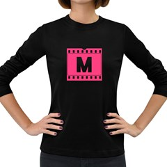 pink film  Women s Long Sleeve T-shirt (Dark Colored) by makeunique