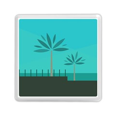 Coconut Palm Trees Sea Memory Card Reader (square)  by Jojostore