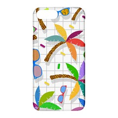 Glasses Coconut Tree Color Rainbow Purple Yellow Orange Green Red Pink Brown Line Apple Iphone 7 Plus Hardshell Case by Jojostore