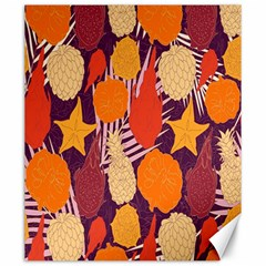 Tropical Mangis Pineapple Fruit Tailings Canvas 20  X 24   by Jojostore