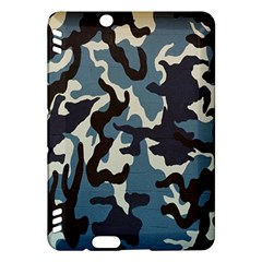 Blue Water Camouflage Kindle Fire HDX Hardshell Case by Nexatart