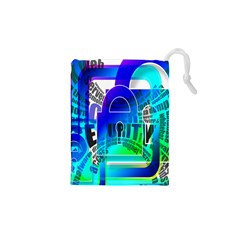 Security Castle Sure Padlock Drawstring Pouches (xs)  by Nexatart
