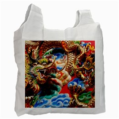 Thailand Bangkok Temple Roof Asia Recycle Bag (two Side)  by Nexatart