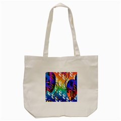 Abstract Mask Artwork Digital Art Tote Bag (cream) by Nexatart