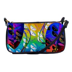 Abstract Mask Artwork Digital Art Shoulder Clutch Bags by Nexatart