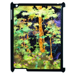 Abstract Trees Flowers Landscape Apple iPad 2 Case (Black) by Nexatart