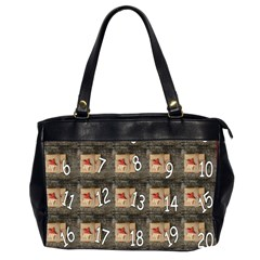 Advent Calendar Door Advent Pay Office Handbags (2 Sides)  by Nexatart