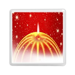 Advent Candle Star Christmas Memory Card Reader (square)  by Nexatart
