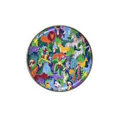 Animated Safari Animals Background Hat Clip Ball Marker (4 Pack)