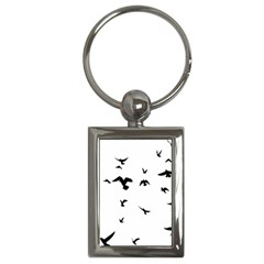 Bird Fly Black Key Chains (rectangle)  by Alisyart