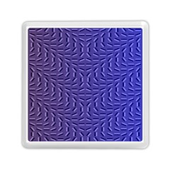 Calm Wave Blue Flag Memory Card Reader (square)  by Alisyart