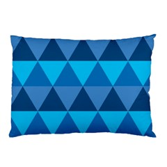 Geometric Chevron Blue Triangle Pillow Case (two Sides)