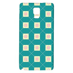 Regular Triangulation Plaid Blue Galaxy Note 4 Back Case by Alisyart