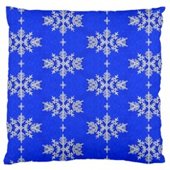 Background For Scrapbooking Or Other Snowflakes Patterns Large Cushion Case (two Sides) by Nexatart