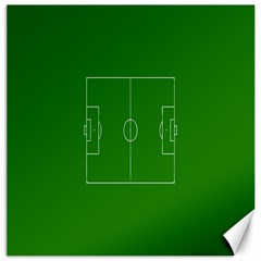 Soccer Field Football Sport Green Canvas 16  X 16   by Alisyart