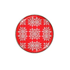 Background For Scrapbooking Or Other Stylized Snowflakes Hat Clip Ball Marker (10 Pack) by Nexatart