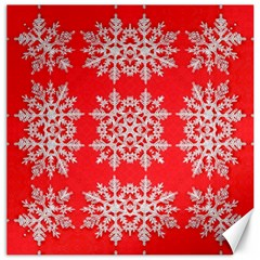 Background For Scrapbooking Or Other Stylized Snowflakes Canvas 20  X 20   by Nexatart