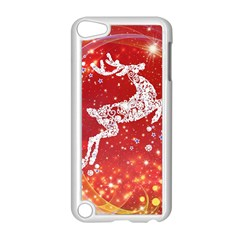 Background Reindeer Christmas Apple Ipod Touch 5 Case (white) by Nexatart