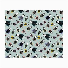 Bees Animal Pattern Small Glasses Cloth (2 Side) by Nexatart
