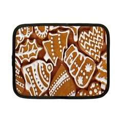 Biscuit Brown Christmas Cookie Netbook Case (small)  by Nexatart