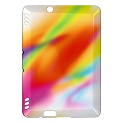 Blur Color Colorful Background Kindle Fire HDX Hardshell Case by Nexatart