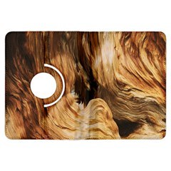 Brown Beige Abstract Painting Kindle Fire HDX Flip 360 Case by Nexatart