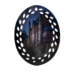 Castle Mystical Mood Moonlight Ornament (oval Filigree)