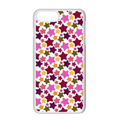 Christmas Star Pattern Apple Iphone 7 Plus White Seamless Case by Nexatart