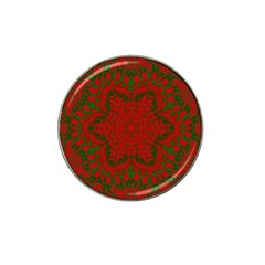 Christmas Kaleidoscope Art Pattern Hat Clip Ball Marker (10 pack) by Nexatart