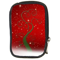 Christmas Modern Day Snow Star Red Compact Camera Cases by Nexatart