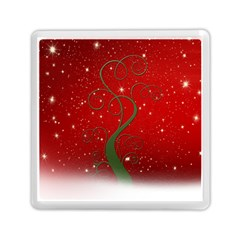Christmas Modern Day Snow Star Red Memory Card Reader (square)  by Nexatart