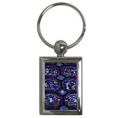 Church Window Canterbury Key Chains (rectangle)  by Nexatart