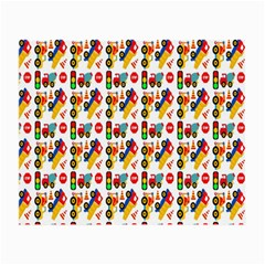 Construction Pattern Background Small Glasses Cloth (2 Side) by Nexatart