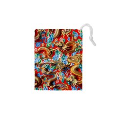 Dragons China Thailand Ornament Drawstring Pouches (xs)  by Nexatart