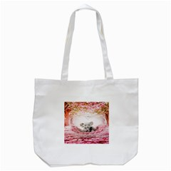 Elephant Heart Plush Vertical Toy Tote Bag (white) by Nexatart