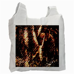 Fabric Yikes Texture Recycle Bag (one Side) by Nexatart