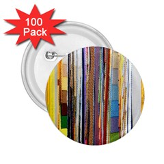Fabric 2 25  Buttons (100 Pack)  by Nexatart
