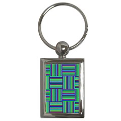 Fabric Pattern Design Cloth Stripe Key Chains (rectangle)  by Nexatart