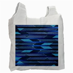 Fabric Texture Alternate Direction Recycle Bag (one Side) by Nexatart