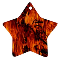 Fire Easter Easter Fire Flame Star Ornament (two Sides) by Nexatart