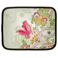 Floral Pattern Background Netbook Case (XXL)  by Nexatart