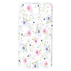Floral Pattern Background  Galaxy Note 4 Back Case by Nexatart
