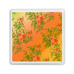 Flowers Background Backdrop Floral Memory Card Reader (square)  by Nexatart