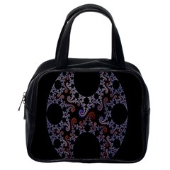 Fractal Complexity Geometric Classic Handbags (one Side) by Nexatart