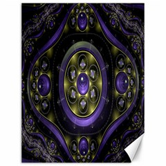 Fractal Sparkling Purple Abstract Canvas 12  x 16   by Nexatart
