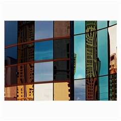 Glass Facade Colorful Architecture Large Glasses Cloth (2 Side) by Nexatart